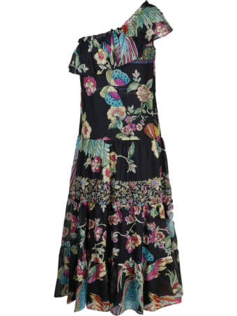 RED Valentino Bird Of Paradise Dress With Flounds