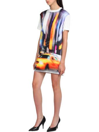 HERON PRESTON T-shirt Dress Satin Taxi