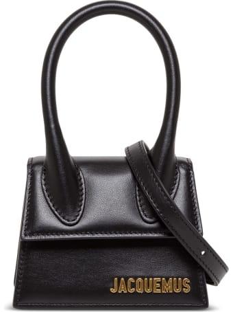 Jacquemus Le Chqiuito Handbag In Black Leather