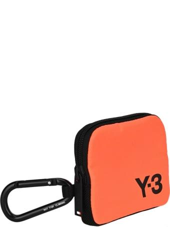 Y-3 Adidas Y3 Logo Printed Coin Pouch