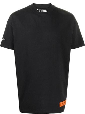 HERON PRESTON T-shirt In Black Cotton