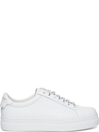 Givenchy Urban Sneakers In Leather With Logoed Laces