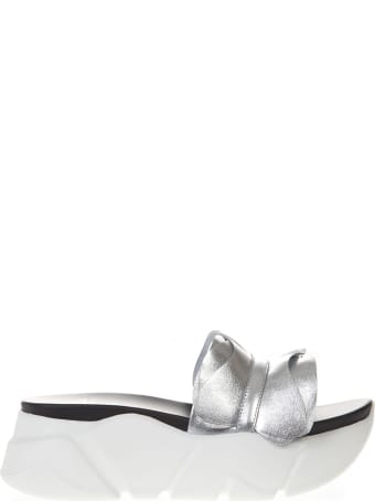 Voile Blanche Silver Pamela Leather Sandal