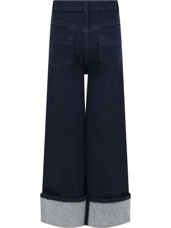 Stella Jean Blue Jeans For Girl