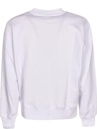 MSGM Patched Pocket Ribbed Logo Sweatshirt