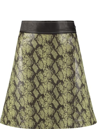 STAND STUDIO Elene Printed Wrap Skirt
