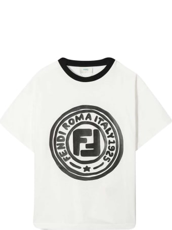 Fendi White T-shirt With Logo