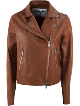 S.W.O.R.D 6.6.44 Brown Lambskin Jacket