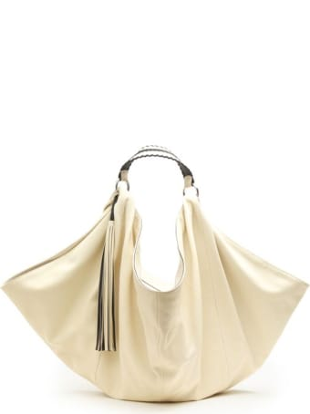 Ash Ivory Leather Mandy Handbag