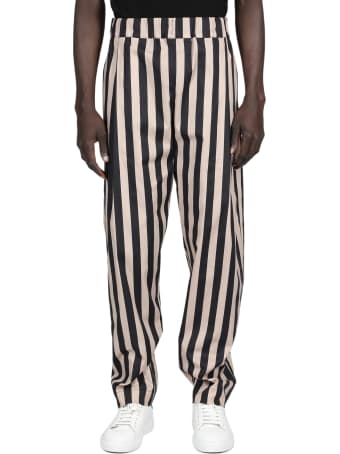 Laneus Striped Popeline Pant