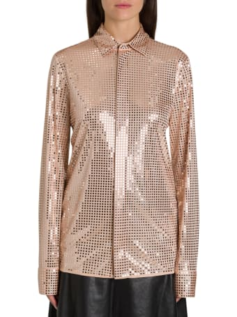 Bottega Veneta Shirt In Embellished Satin Jersey
