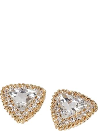 Alessandra Rich Gold-tone Brass Earrings