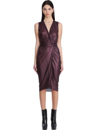 Rick Owens Lilies Dress In Viola Viscose