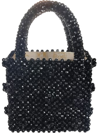Shrimps Mini Antonia Beaded Handbag W Geometric Beads
