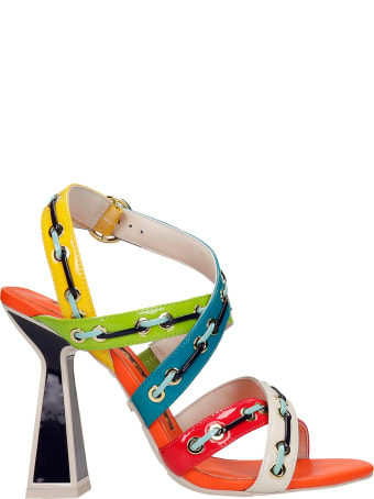 Kat Maconie Toro Sandals In Multicolor Leather