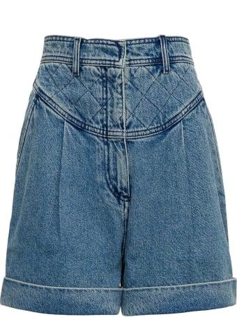 Philosophy di Lorenzo Serafini High Waisted Cotton Denim Shorts