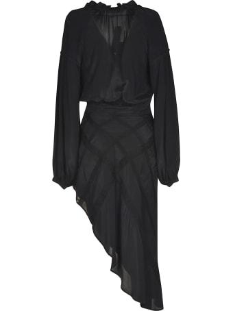 WANDERING Criss-cross Skirt V-neck Dress