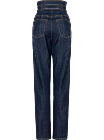 Philosophy di Lorenzo Serafini Dark Blue Stretch-cotton Jeans