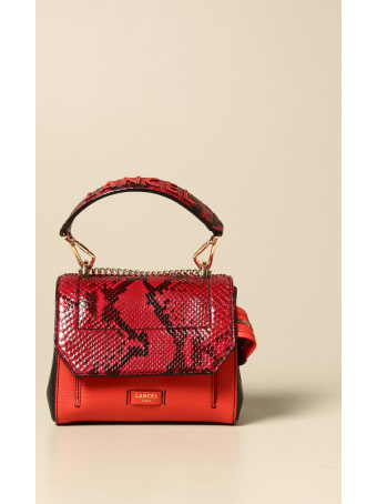 Lancel Mini Bag Ninon Mini Lancel Bag In Grained Leather And Python Print Leather