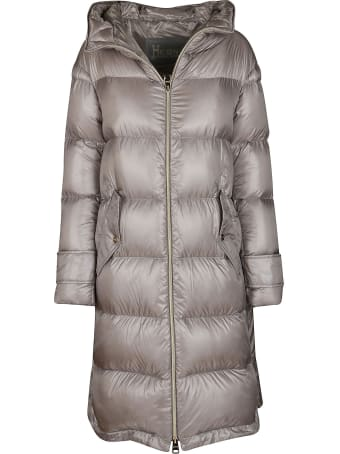 Herno Grey Feather-down Coat