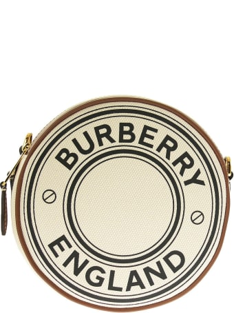 Burberry Logo Graphic Canvas And Leather Louise Bag Natural