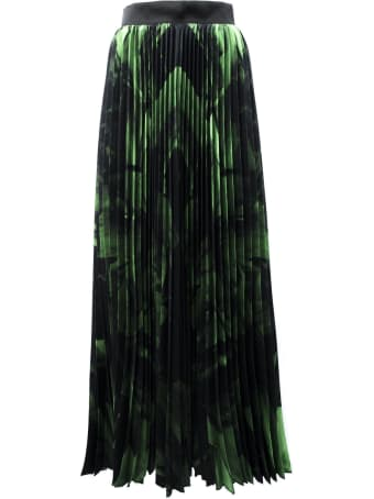 Off-White Skirt In Black And Green