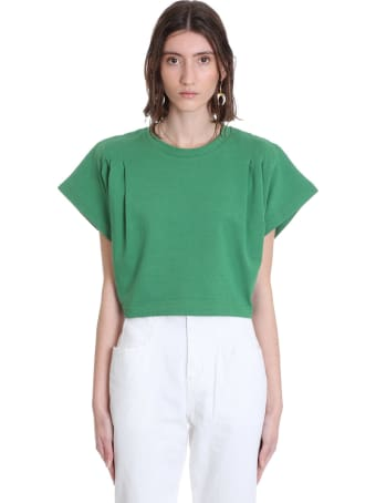 Isabel Marant Zinalia  T-shirt In Green Cotton