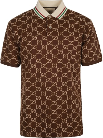 Gucci All-over Logo Slim Polo Shirt