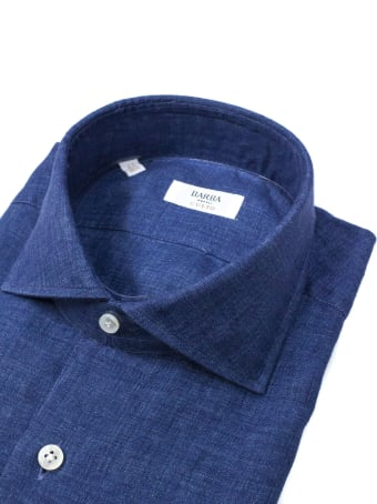 Barba Napoli Dark Denim Shirt