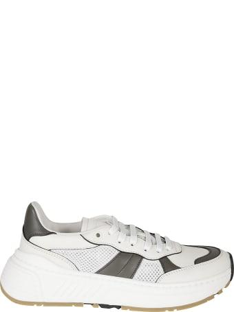 Bottega Veneta Meshed Detail Laced-up Sneakers