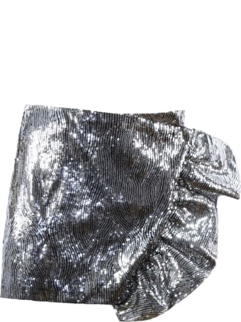 Laneus Silver-toned Sequined Mini Skirt