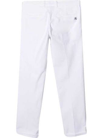 Fay White Chino Trousers