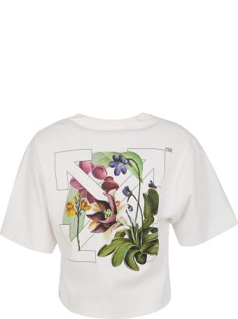 Off-White Botanical Arrows Crop T-shirt