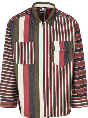 Napa By Martine Rose Napa By Martin Rose Sriped Zip-up Shirt