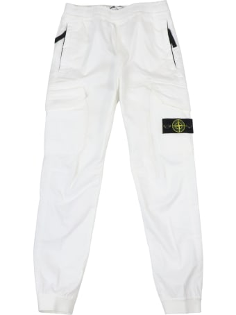 Stone Island Junior Cotton Trousers