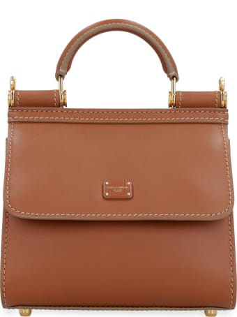 Dolce & Gabbana Sicily 58 Leather Handbag