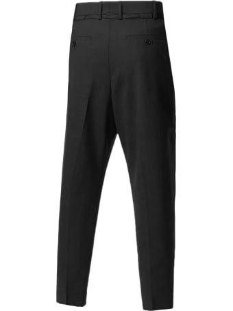 Neil Barrett Black Virgin Wool Blend Trousers