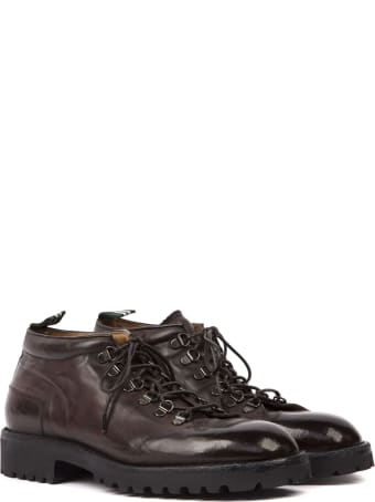 Green George Dark Brown Leather Laced Shoes