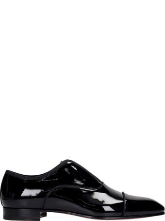 Christian Louboutin Alpha Male Loafers In Black Patent Leather