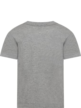 Comme des Garçons Play Grey T-shirt For Kids With Logo