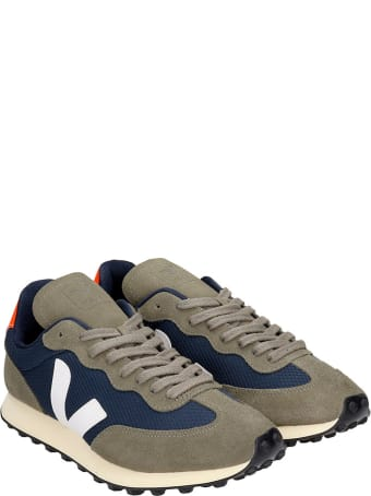 Veja Rio Branco Sneakers In Green Suede And Fabric