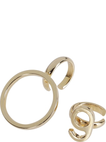 MM6 Maison Margiela Gold Brass Ear Cuff