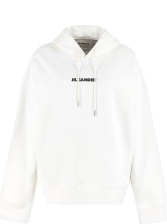 Jil Sander Logo Cotton Hoodie