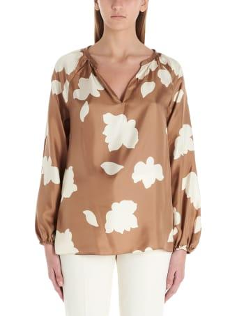 Theory 'petal Silk' Blouse