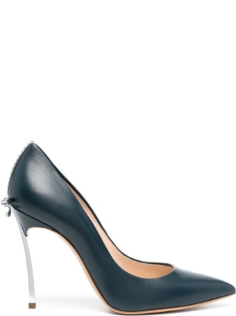Casadei Blue Blade Pumps With Bow Detail