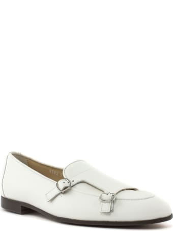Doucal's White Leather Loafer
