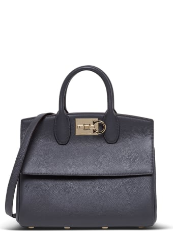 Salvatore Ferragamo The Studio Leather Handbag