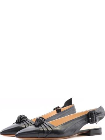 Francesco Russo Ballet Shoes Knot Black