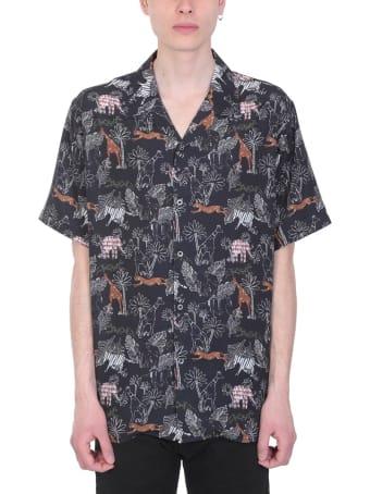 Danilo Paura Safari Viscose Black Multicolor Shirt