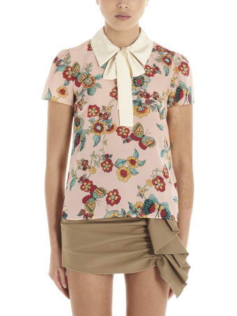 RED Valentino 'flower & Butterfly' Blouse